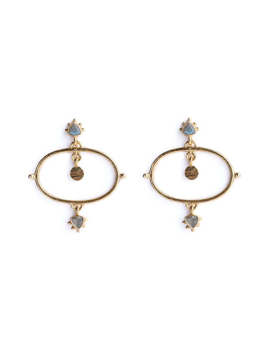 p earring etnic chic labradorite gold plated