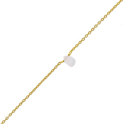 f bracelet white moonst drop and 2mm pearl gold pl