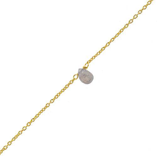 f bracelet labradorite drop and 2mm peach m st gold pl