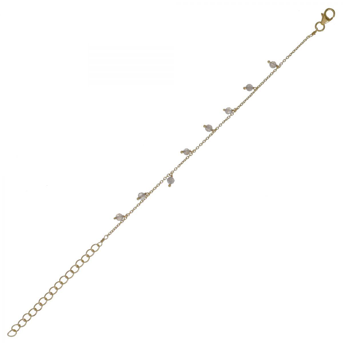 f bracelet 3mm 8 pendants labradorite beads gold plated