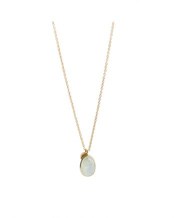 J- collier drop 55cm prenite gold plated