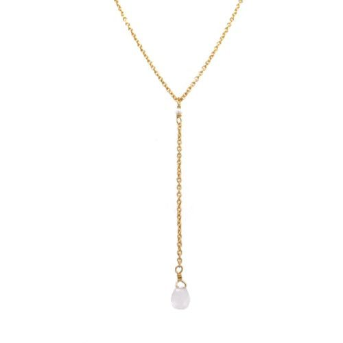 hcollier ypsilon white moonstone drop and 2mm pearl gpl