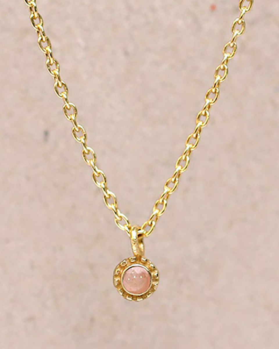 fcollier peach moonstone round with stone g pl 55cm