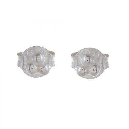 Earring stud three silver balls