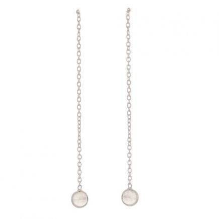 C- earring 4mm moonstone pull through