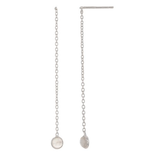 c earring 4mm moonstone pull through