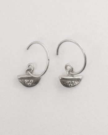C- earring half circle and dots