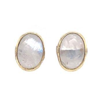 Earring stud oval