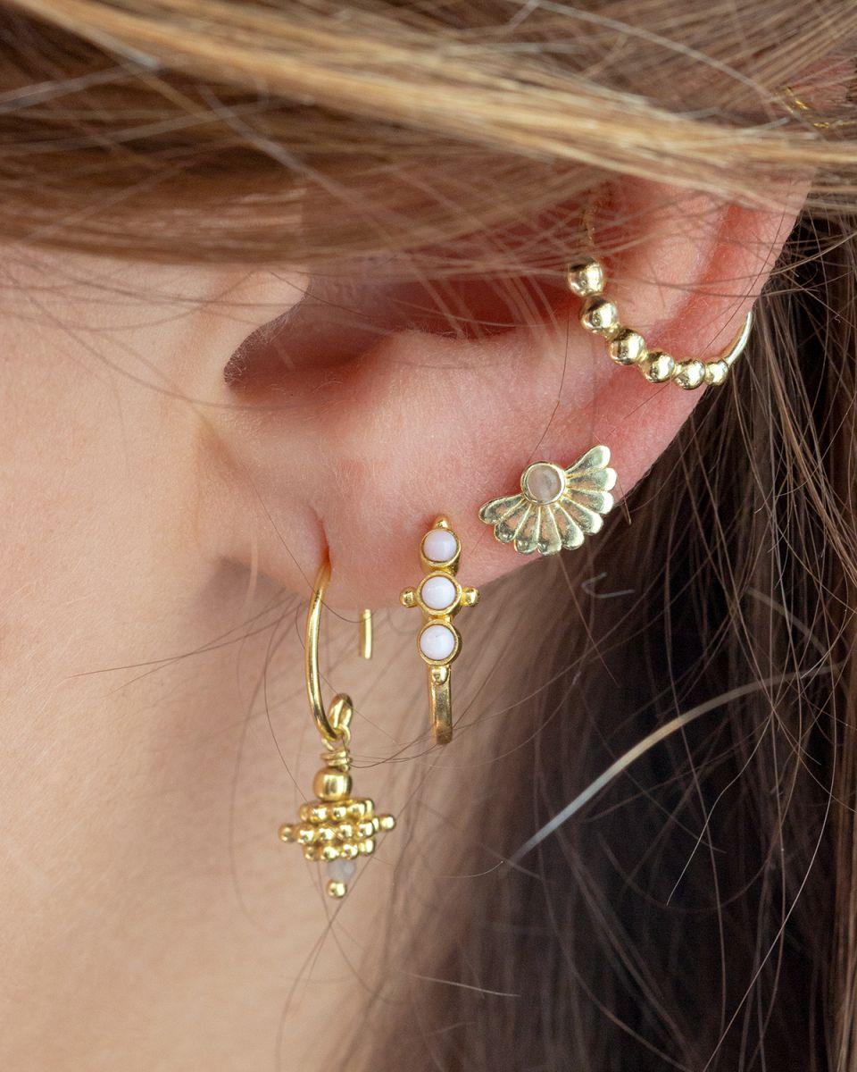 c earring silver balls