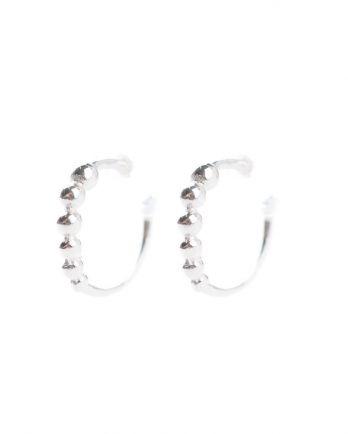 C- earring silver balls