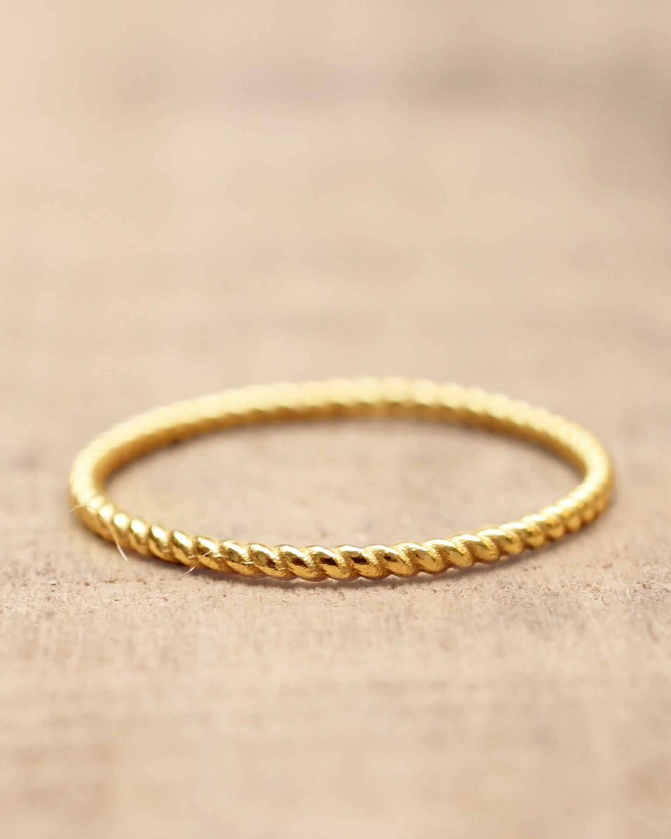 c ring size 50 plain gold gold plated