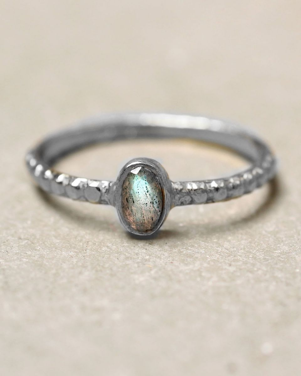 c ring size 52 oval xs labradorite