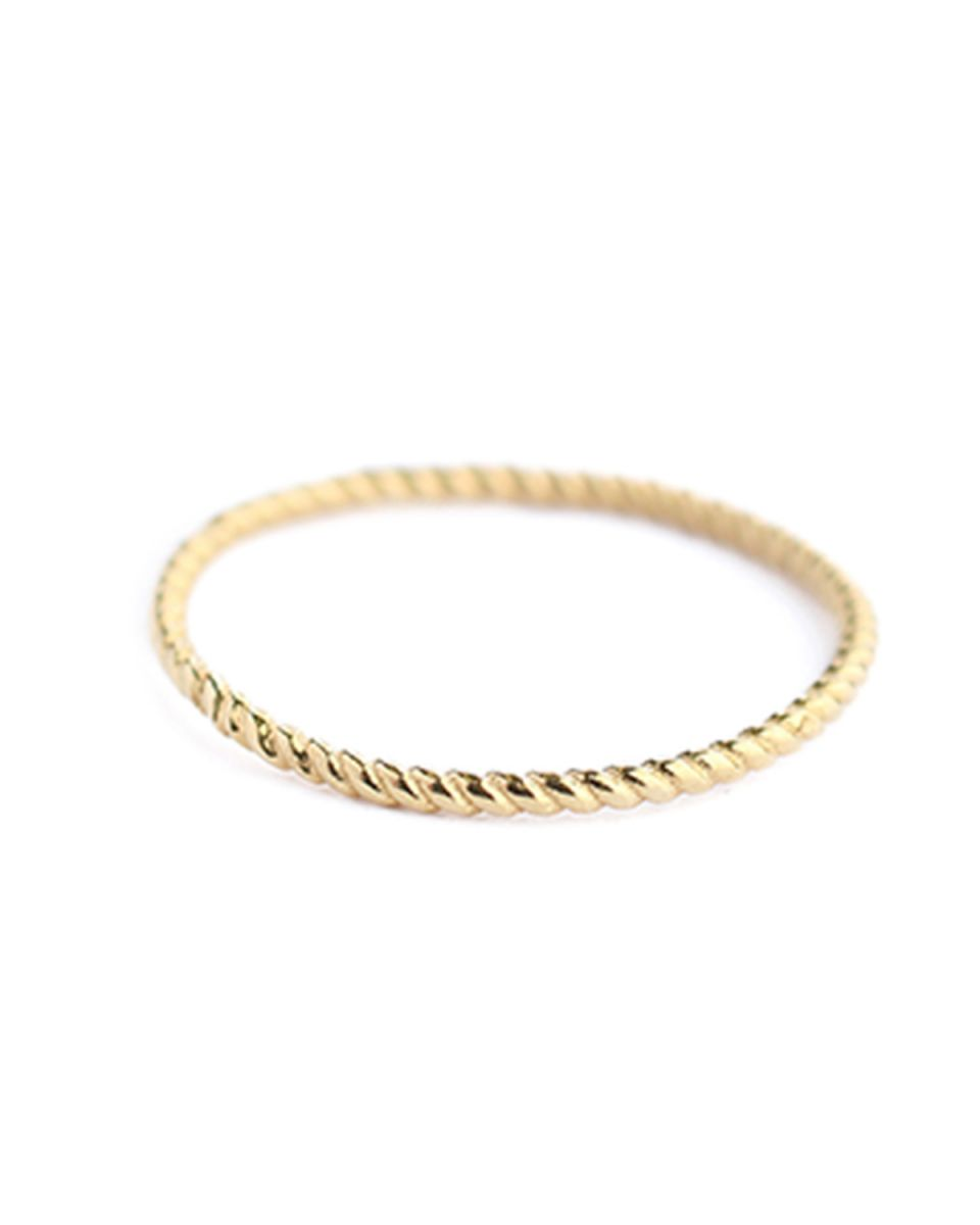 c ring size 52 plain gold gold plated