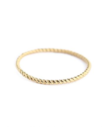 C- ring size 52 plain gold gold plated