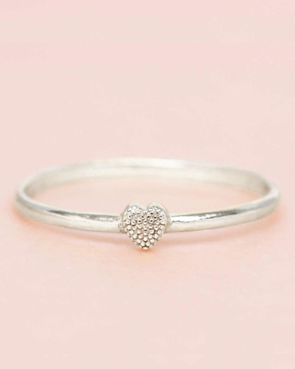 c ring size 54 heart 3mm
