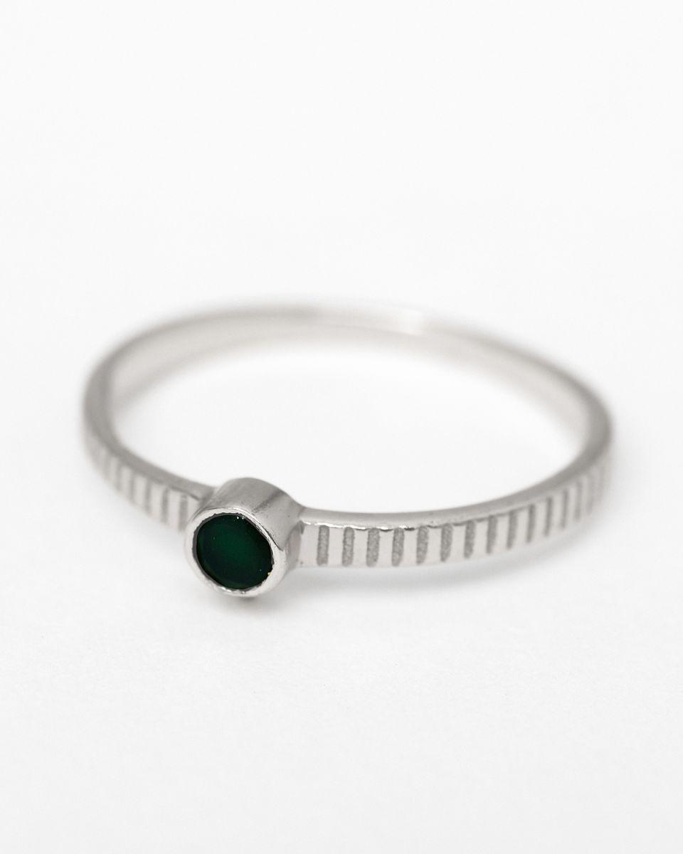 c ring size 56 3mm round 1 dot nefrite