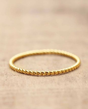 C- ring size 56 plain gold gold plated