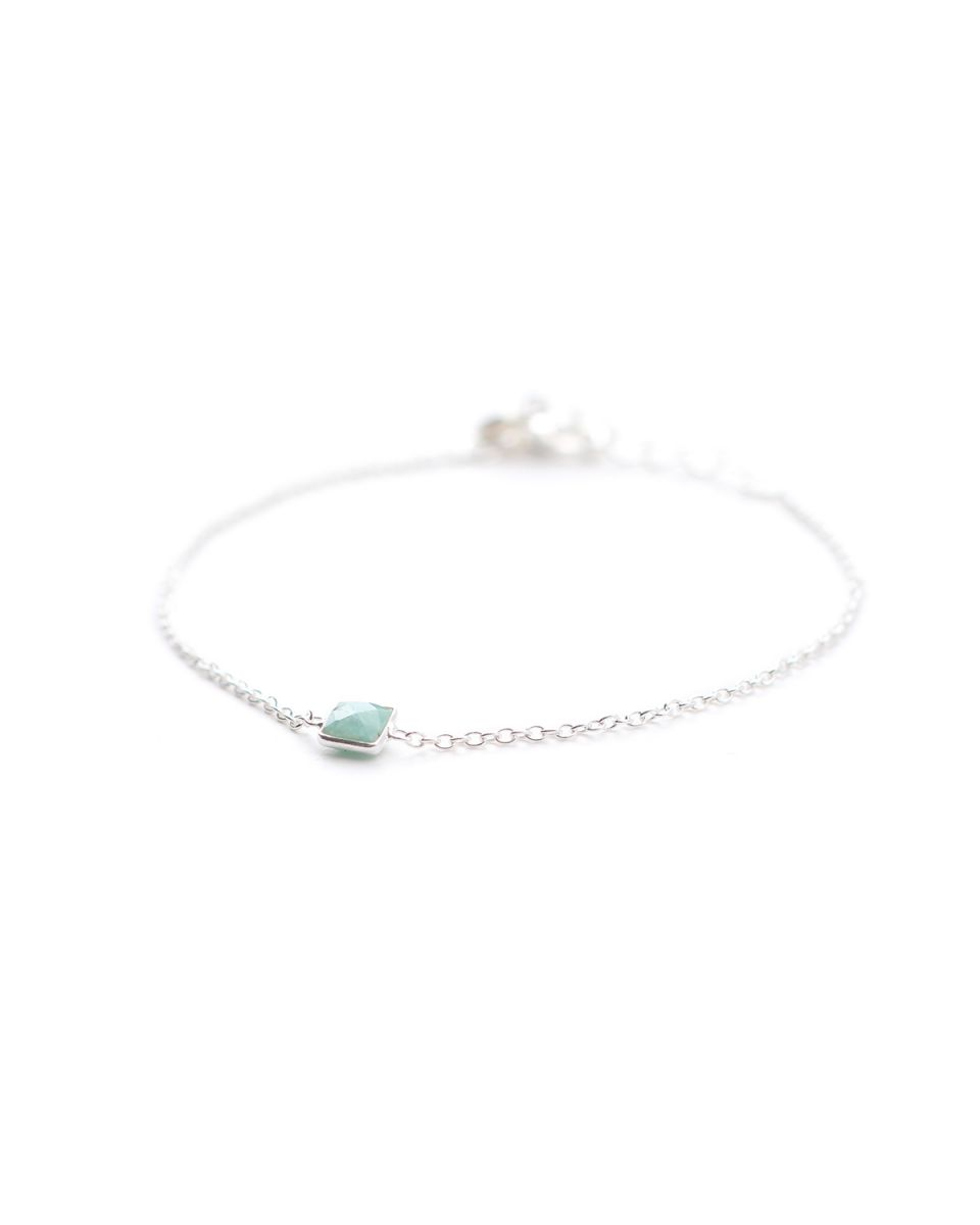 d bracelet square amazonite
