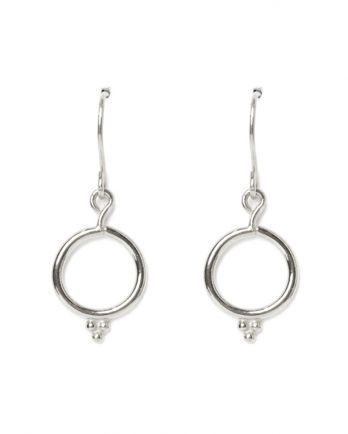 D-earring 3 dots circel
