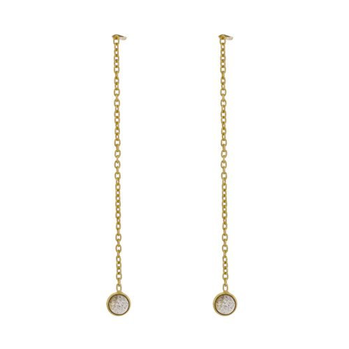 d earring 4mm labradorite pull through gold plated