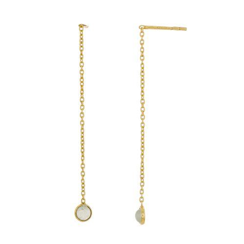 d earring 4mm prenite pull through gold plated