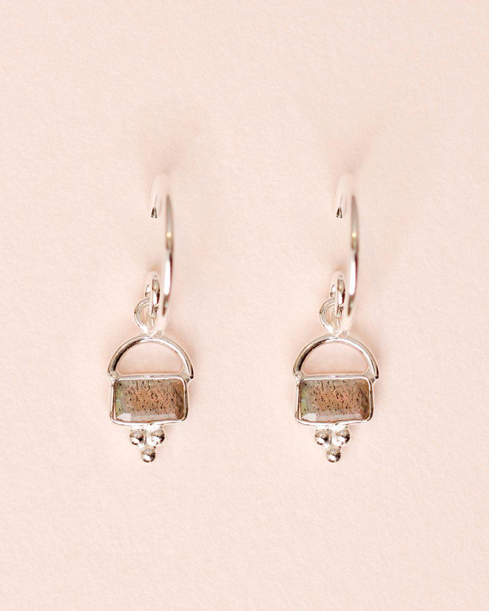 d earring 5x3 horizontal extra labradorite