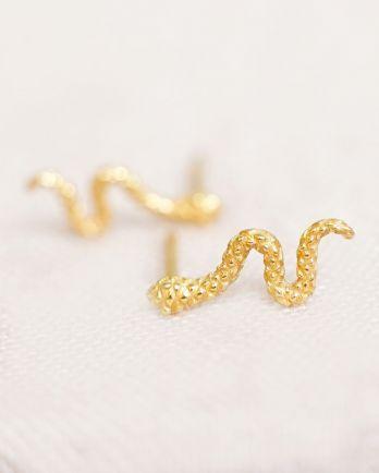 Earring stud snake