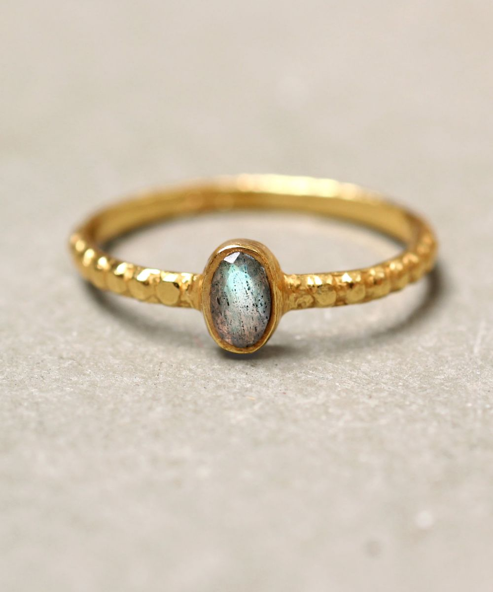 d ring size 52 oval xs labradorite gold plated