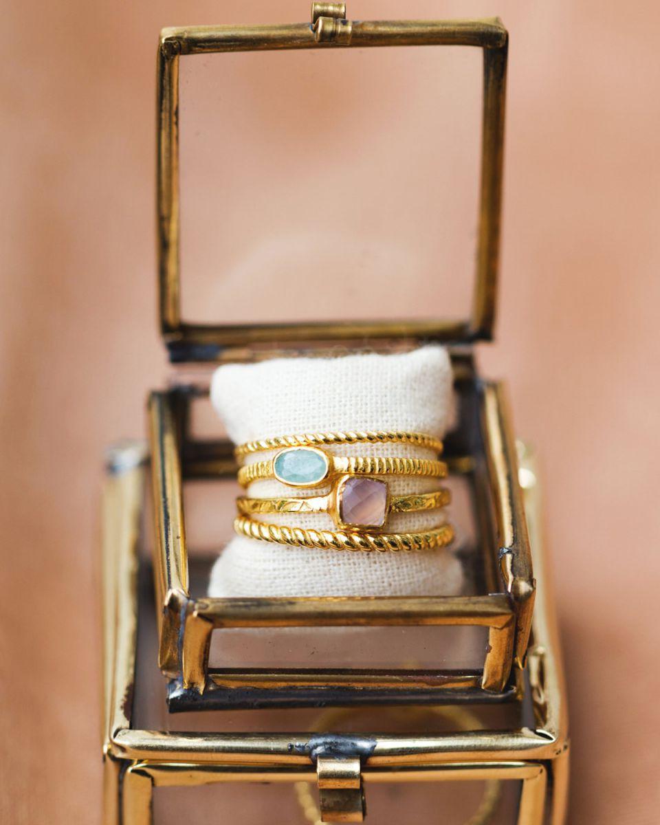 d ring size 52 square rose quartz
