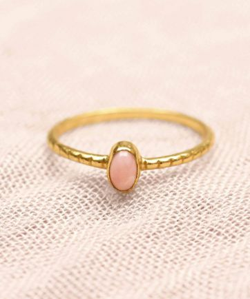 D- ring size 54 oval xs rhodonite gold plated