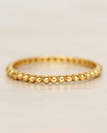 D- ring size 54 smalls dots gold plated