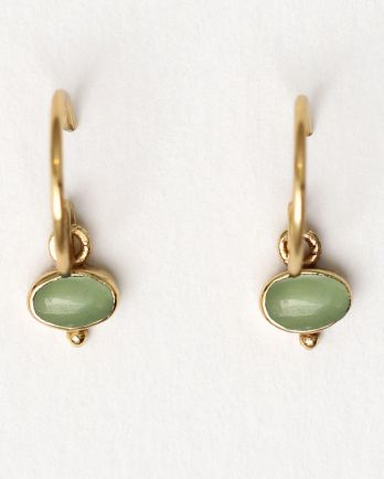 Earring hanging oval 5x3