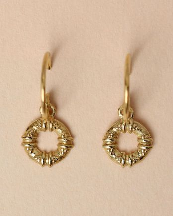 E- earring maori circle gold plated