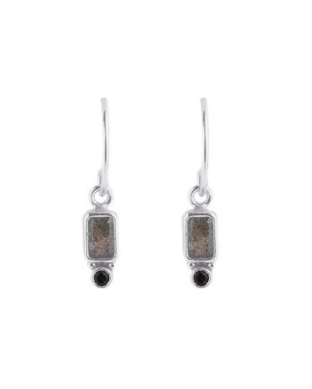 Earring hanging rectangle + 2mm dot