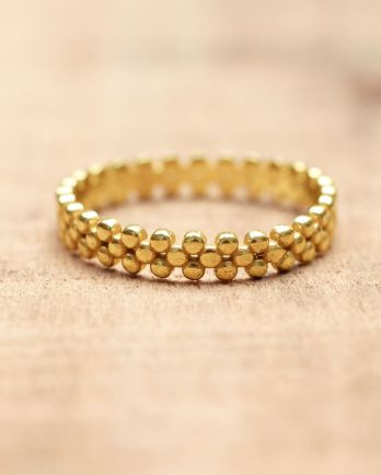E- ring size 52 flat dots gold plated