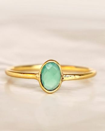 E - Ring size 52 nefrite vertical gold pl.