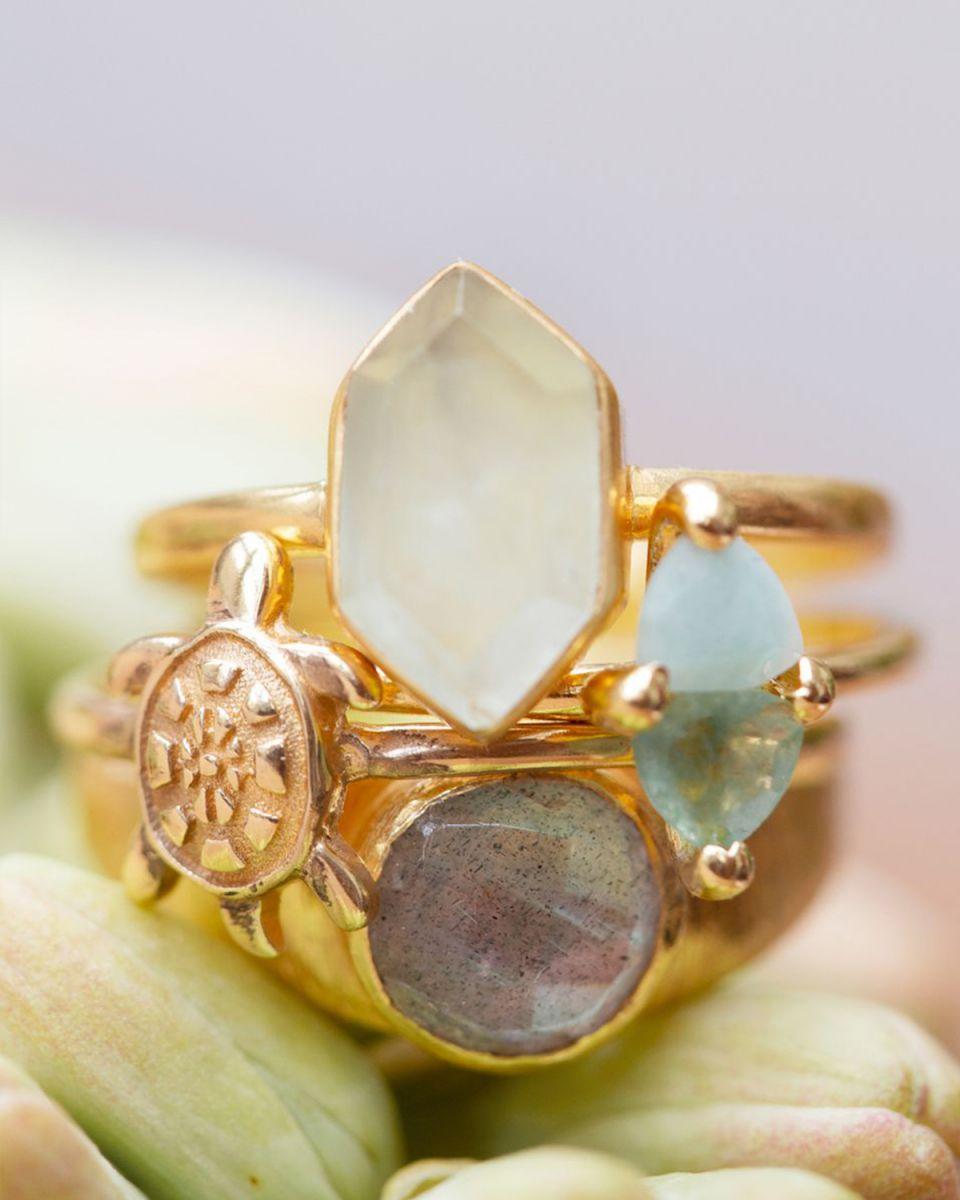 e ring size 54 fancy diamant labradorite