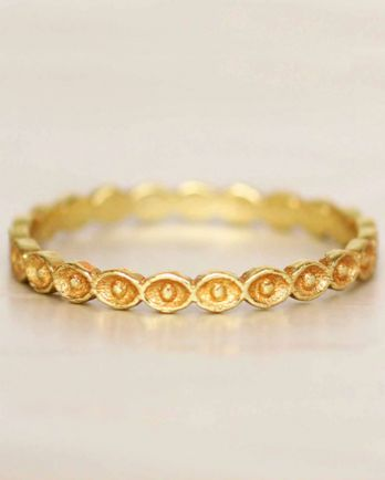 E- ring size 56 eyes gold plated