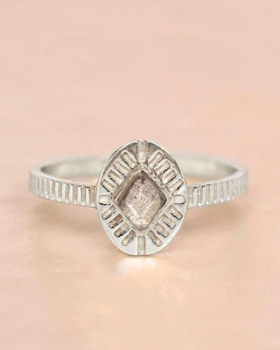 e ring size 56 labradorite diamond striped
