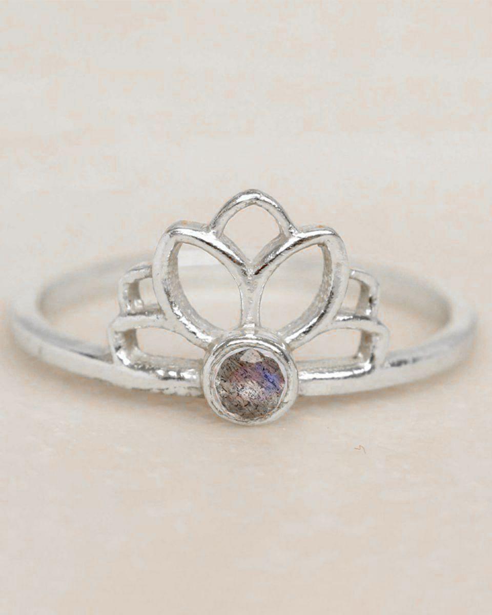 e ring size 56 labradorite lotus