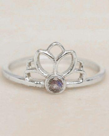 E- ring size 56 labradorite lotus