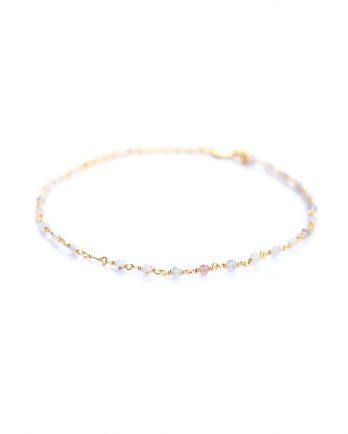 F- bracelet 1 row iolite gold plated