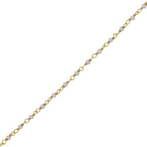 f bracelet 1 row pearl gold plated