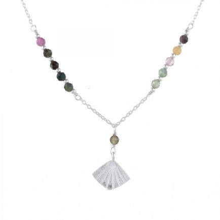 F-collier tourmaline beads with flabellete