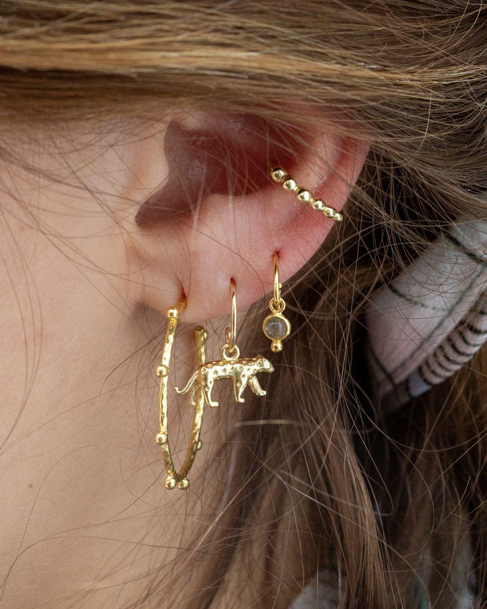 f earring cheetah gold plated