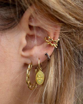 F- earring open cirkels hoop