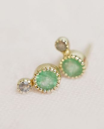 Earring stud small and bigger dot