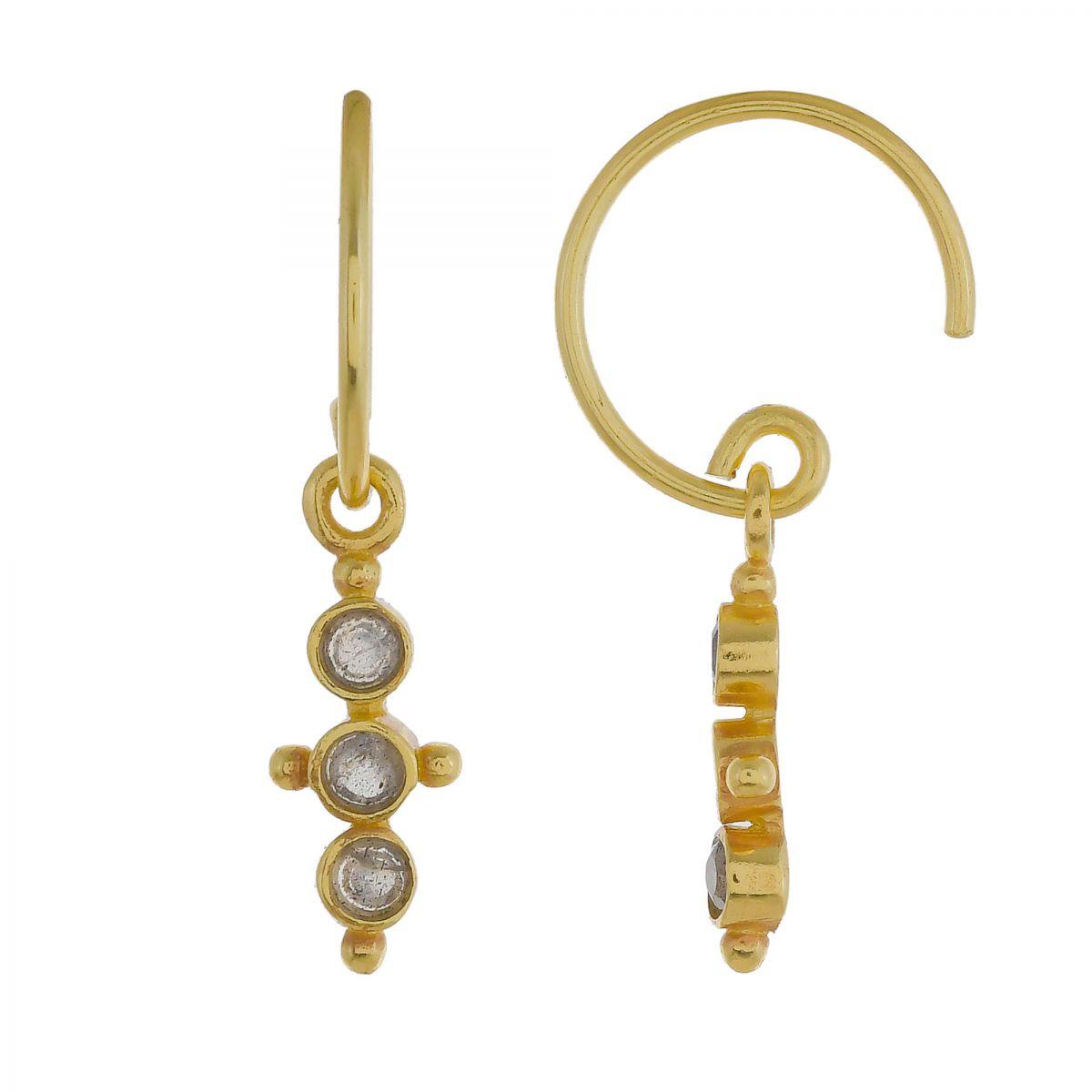 f earring three little hanging labradorite stones g pl