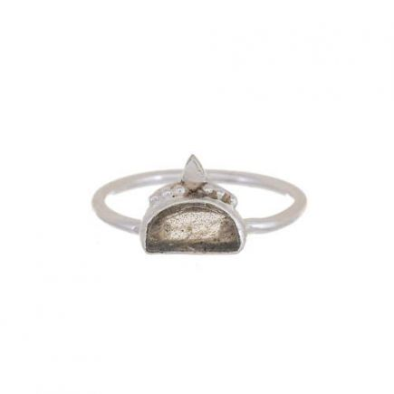 F- ring size 54 labradorite etnic moon