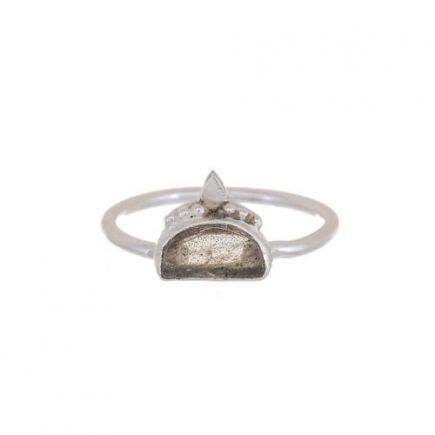 F- ring size 56 labradorite etnic moon